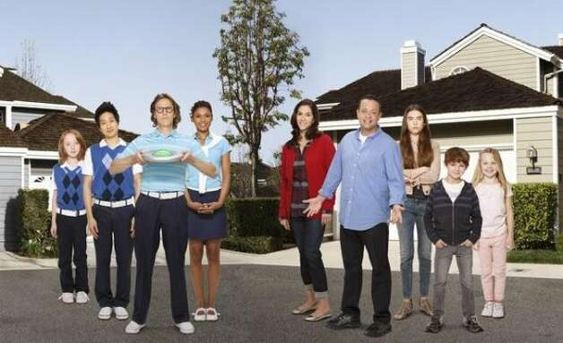 """The Neighbors"" stars Jami Gertz as Debbie Weaver, Lenny Venito as Marty Weaver, Simon Templeman as Larry Bird, Toks Olagundoye as Jackie Joyner-Kersee, Clara Mamet as Amber Weaver, Tim Jo as Reggie Jackson, Ian Patrick as Dick Butkis, Max Charles as Max Weaver, Isabella Cramp as Abby Weaver."