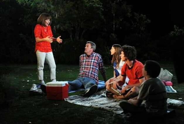 "THE MIDDLE - ""Last Whiff of Summer"" - Frankie's plans to recreate the magic of her own childhood summers are foiled when Mike lets it slip that Axl is his favorite Heck child, and Frankie tries to coax the kids into telling them who their favorite parent is. Meanwhile, when Frankie and Mike discover that Axl failed English during the past school year, they force him to make it up in summer school, otherwise he could jeopardize any chance of getting a college sports scholarship after graduation; Brick takes up growing a tomato for his summer project; and Sue tries to bond with a reluctant Mike and to get him involved in different activities with her -- which she plans to document in a giant scrapbook -- on the season premiere of ""The Middle,"" WEDNESDAY, SEPTEMBER 26 (8:00-9:00 p.m., ET) on the ABC Television Network. (ABC/RICHARD FOREMAN)PATRICIA HEATON, NEIL FLYNN, EDEN SHER, CHARLIE MCDERMOTT, ATTICUS SHAFFER (ABC)"