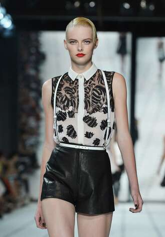 Lace and leather examples from Jason Wu collection for Thursday, Sept. 13, NY Fashion Week Main story by Michael Quintanilla Photo: Slaven Vlasic, Getty Images / 2012 Getty Images