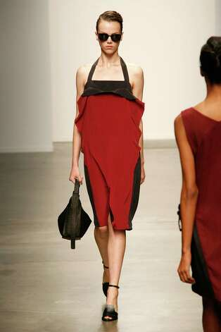 for NY Fashion Week Main story Thursday, Sept. 13. Rachel Comey collection Photo: Andy Kropa, Getty Images / 2012 Getty Images