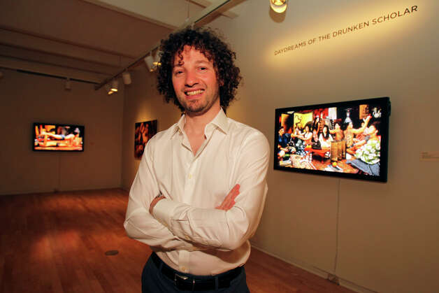 Artist Adad Hannah displays his work at the San Antonio Museum of Art  on August 31, 2012. Photo: Tom Reel, San Antonio Express-News / ©2012 San Antono Express-News
