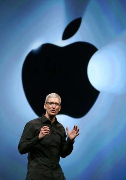 Apple CEO Tim Cook speaks during an Apple special event at the Yerba Buena Center for the Arts on Se