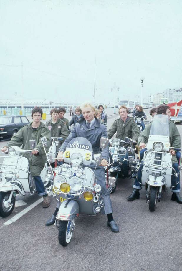 "Scooter-driving mods, including one portrayed by Police singer Sting, take to the streets in ""Quadrophenia."" Photo: Criterion Collection"