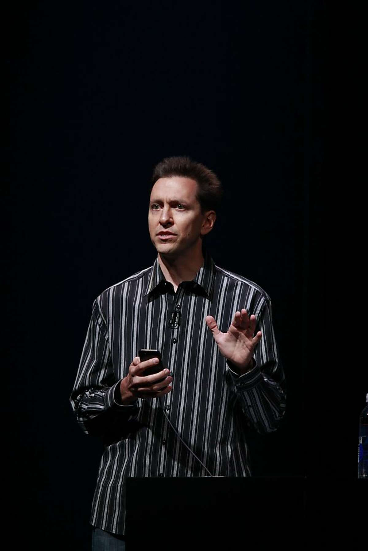 Head of Apple's iOS team, Scott Forstall introduces the iOS6 on new iPhone 5 at the Yerba Buena Center for the Arts on Wednesday Sep. 12, 2012 in San Francisco, Calif.