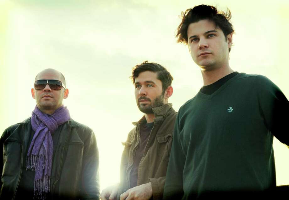 The Antlers, which is fronted by Westchester County, N.Y. native Peter SIlberman (center), performs at Center Church On the Green in New Haven on Sunday, Sept. 23. Photo: Contributed Photo