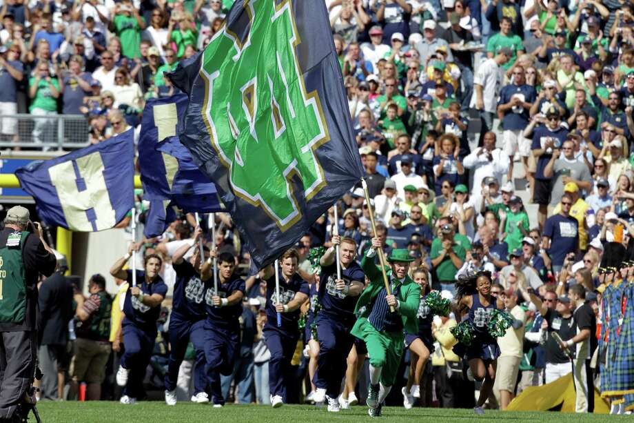 While not joining the Atlantic Coast Conference in football, Notre Dame Stadium will regularly host schools from that league. Photo: Michael Conroy, Associated Press / AP