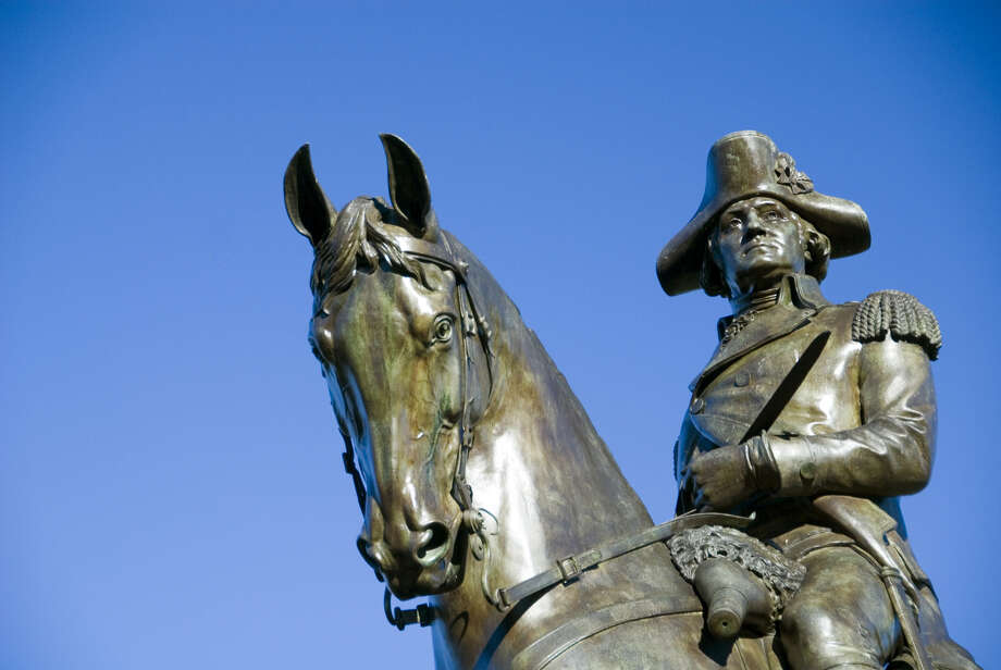A statue of George Washington looks over the Boston Public Garden. Photo: Rob Hill / handout / stock agency