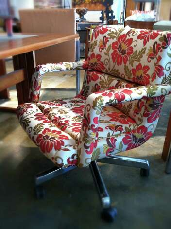 Herman Miller floral upholstery chair, $370, at Native Citizen: 2311 Dunlavy, 832-368-0754, nativecitizen.com Photo: Melanie Warner