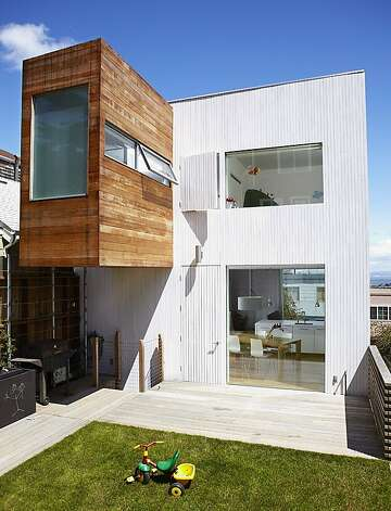 Bernal Tower by Blue Truck Studio, part of the AIASF home tour.  Blue Truck re-mastered a decrepit bungalow into a modern tower that subtly references elements of the local vernacular. Photo: Eduardo Navarro Photography