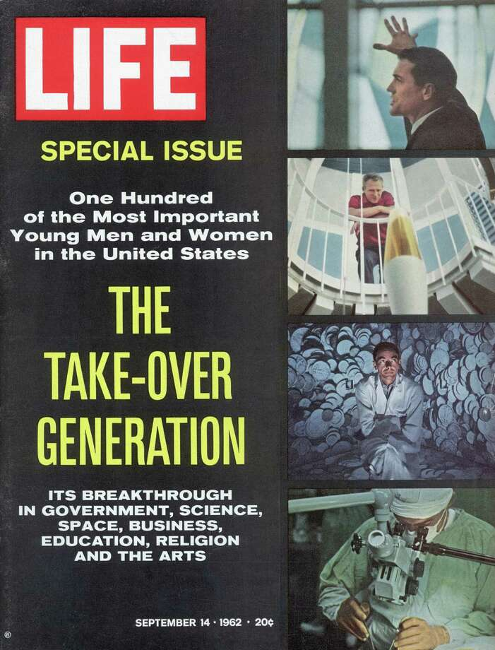 "Greenwich resident Roy Rowan put together this special issue of life magazine, ""The Take-Over Generation,"" which acme out 50 years ago, on Sep. 14, 1962. The issue identified young breakthrough individuals in government, science, space, business, education, religion, and the arts. Photo: HOWARD SOCHUREK, LIFE MAGAZINE, COPYRIGHT TIME IN / LIFE"