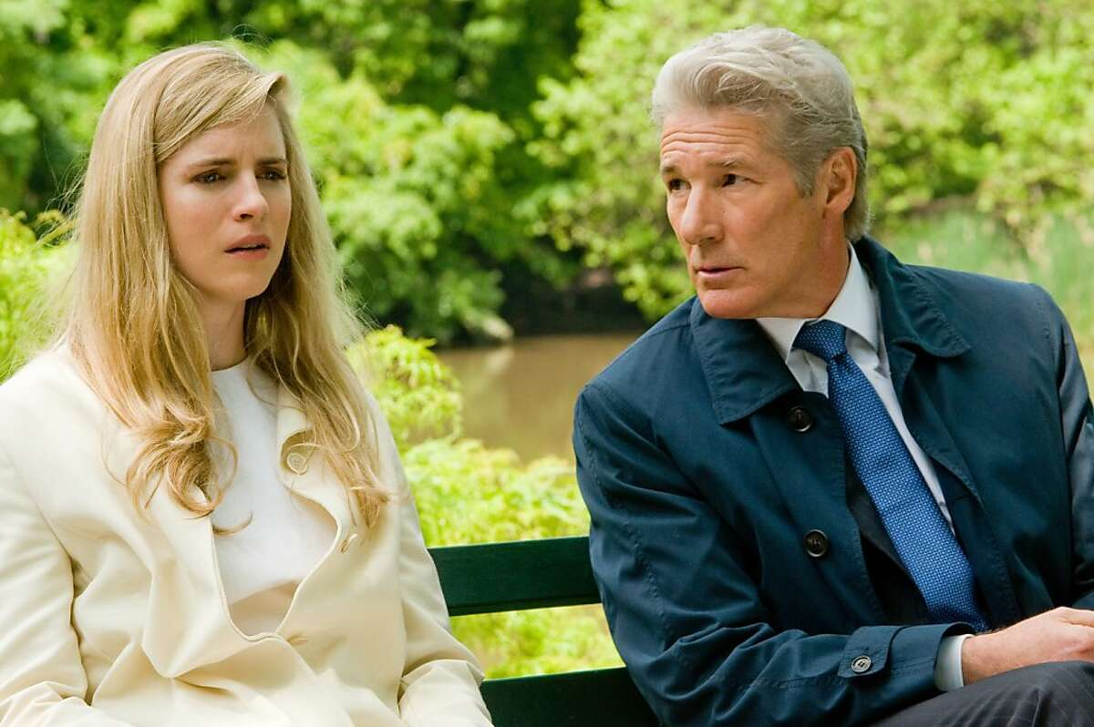 Brit Marling and Richard Gere in ARBITRAGE, written and directed by Nicholas Jarecki.