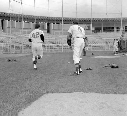 This 1969 picture from Tempe, Ariz., was taken at spring training for the Seattle Pilots, the city's first Major League baseball team. This collection of Pilots negatives was stored uncategorized in the P-I archive for decades and uncovered in summer 2012. The images – most of which were not previously published – were scanned by the Museum of History and Industry, which has preserved P-I negatives after several large donations since 1976. MOHAI's new South Lake Union location opens to the public Dec. 29. Photo: MOHAI/Seattle Post-Intelligencer Collection