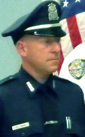 Officer James Novak is sworn in last week for service withthe New Milford Police Department. September 2012  Courtesy of Tammy Reardon Photo: Contributed Photo