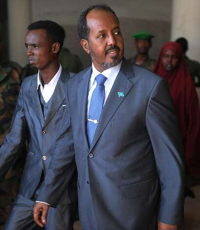 Somali President Hassan Sheikh Mohamud was unharmed. Photo: Simon Maina, AFP/Getty Images