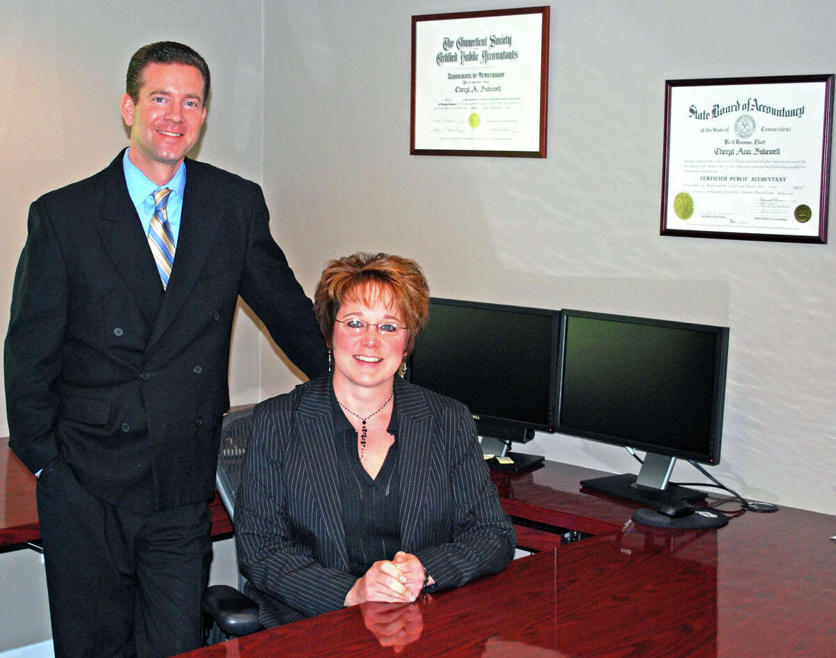 Certified public accountants Scott Mulhare and Cheryl Bakewell are the owners/partners at Bakewell & Mulhare LLC in New Milford. Greater New Milford Chamber of Commerce Business Quarterly September 2012.