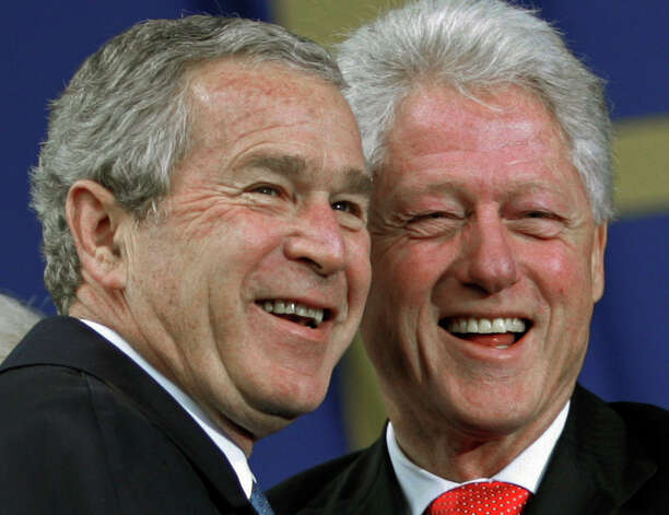 George W. Bush and Bill Clinton offered more innovative visions than today's presidential conetnders. Photo: File Photo, Associated Press / AP2006