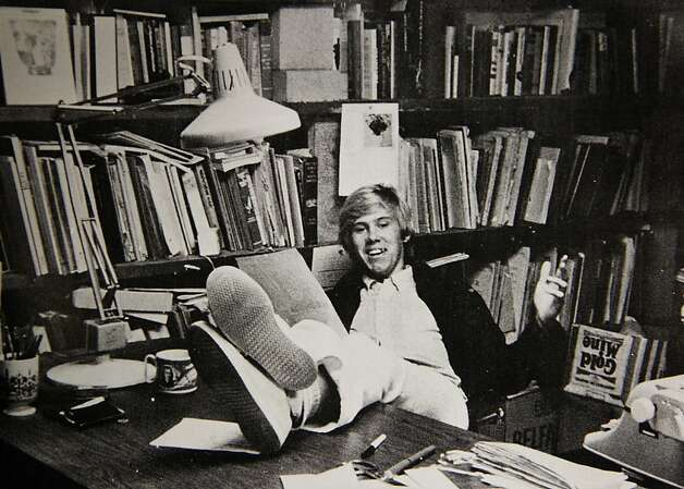 A photograph published in the 1978 Piedmont High School yearbook shows Chris Stevens at his desk as a staffer on the school's Piedmont Highlander newspaper. Stevens, the U.S. ambassador to Libya, was killed during an attack on the consulate in Benghazi, Libya on Tuesday. Photo: Paul Chinn, Courtesy Of Piedmont High School