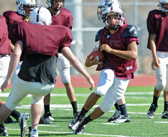 Lansingburgh junior running back Anthony Walker runs with the ball at practice Wednesday, Sept. 12, 2012 in Troy, N.Y. (Lori Van Buren / Times Union) Photo: Lori Van Buren