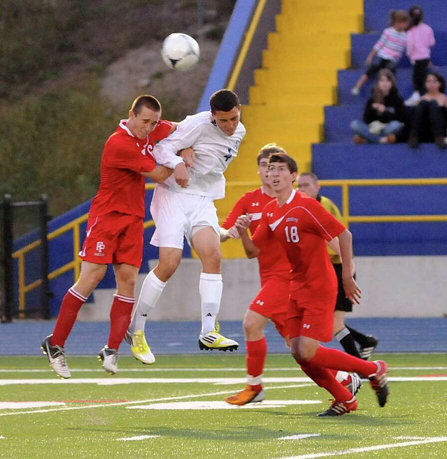 Boys soccer action between Fairfield Preparatory school and Newtown High School in Newtown, CT. on Wednesday September 12, 2012 Photo: Lisa Weir / The News-Times Freelance