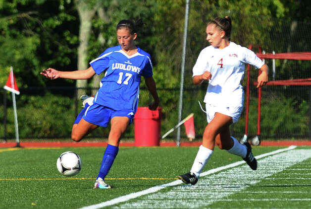 Girls soccer action between Fairfield Ludlowe and St. Joseph in Trumbull, Conn. on Tuesday September 12, 2012. Photo: Christian Abraham / Connecticut Post