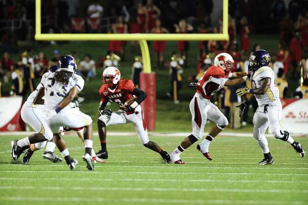 Football game between Lamar University and Prairie View A&M at Provost Umphrey Stadium on Saturday, September 8, 2012. Photo taken: Randy Edwards/The Enterprise