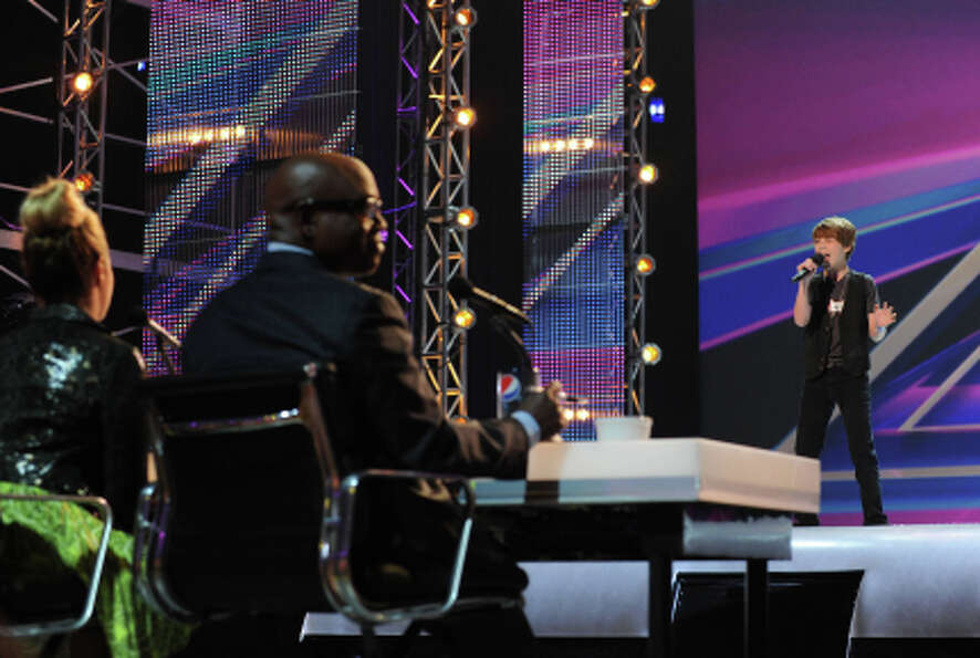 THE X FACTOR: Reed Deming performs in front of the judges on part-one of the two night season premie