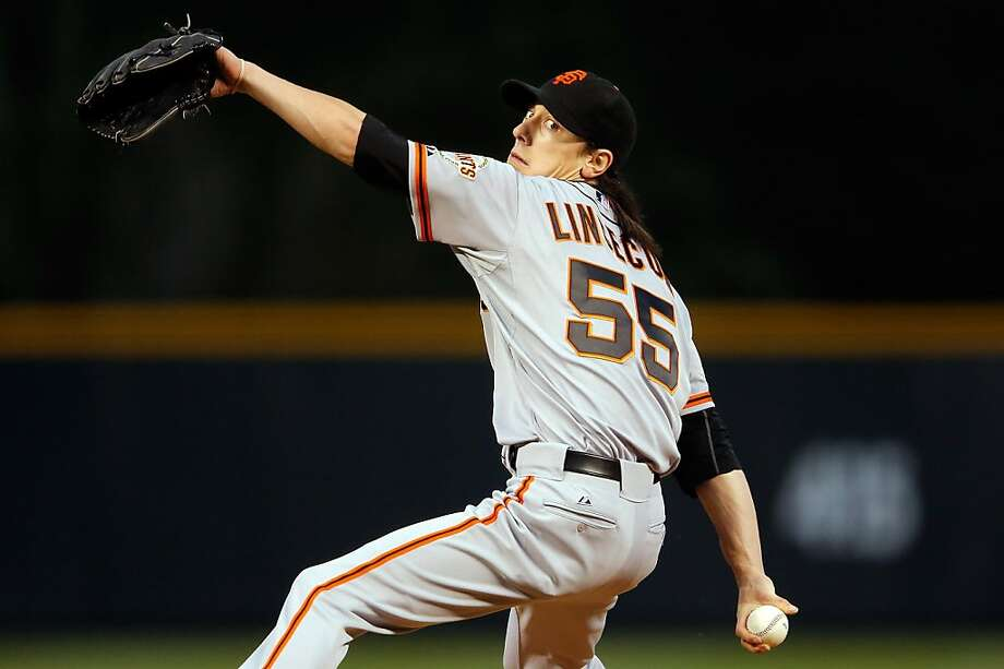 DENVER, CO - SEPTEMBER 12:  Starting pitcher Tim Lincecum #55 of the San Francisco Giants delivers against the Colorado Rockies at Coors Field on September 12, 2012 in Denver, Colorado.  (Photo by Doug Pensinger/Getty Images) Photo: Doug Pensinger, Getty Images