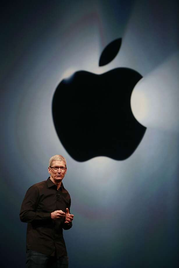 Tim Cook introduces the iPhone 5 during an event last week at San Francisco's Yerba Buena Center. Photo: Mike Kepka, The Chronicle