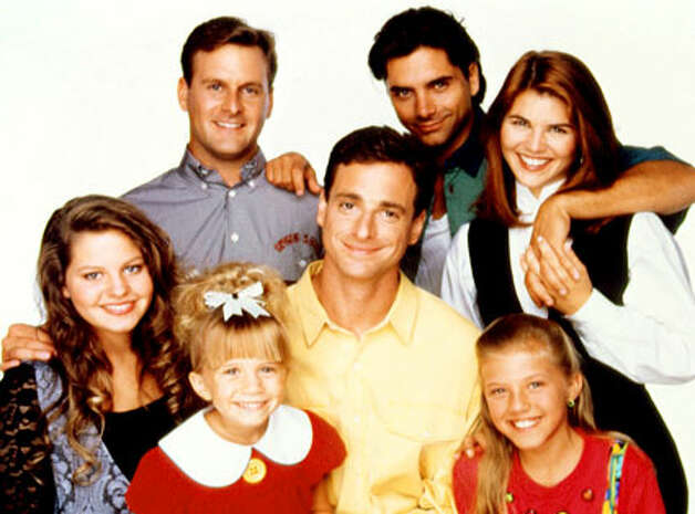 "The ""Full House"" family. The kids from left, Candace Cameron, Mary Kate (or Ashley) Olsen and Jodie Sweetin. The show ran on ABC from 1987-1995. (ABC)"