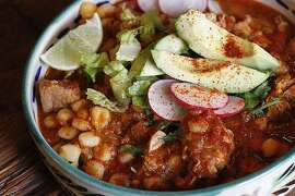 Penthouse Posole recipe from Jacqueline Higuera McMahan for the South to North column.