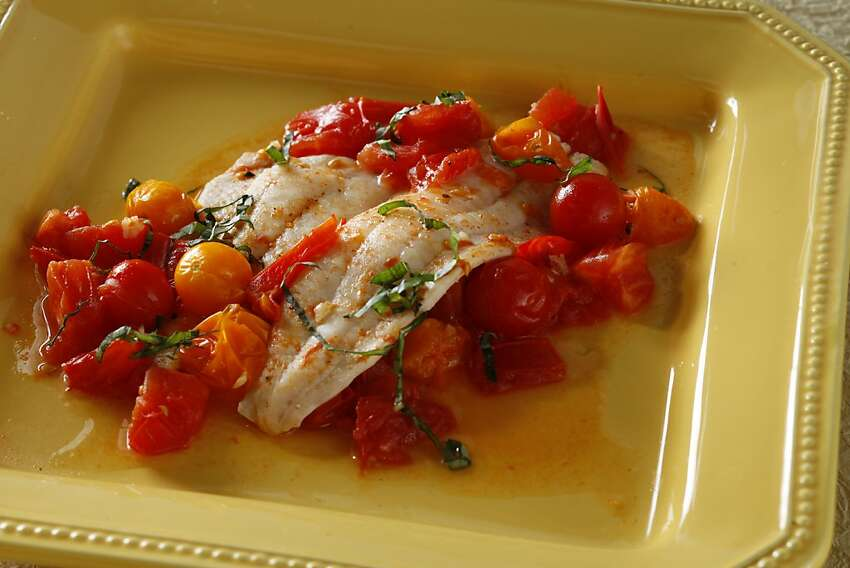 Sole With White Wine & Tomatoes