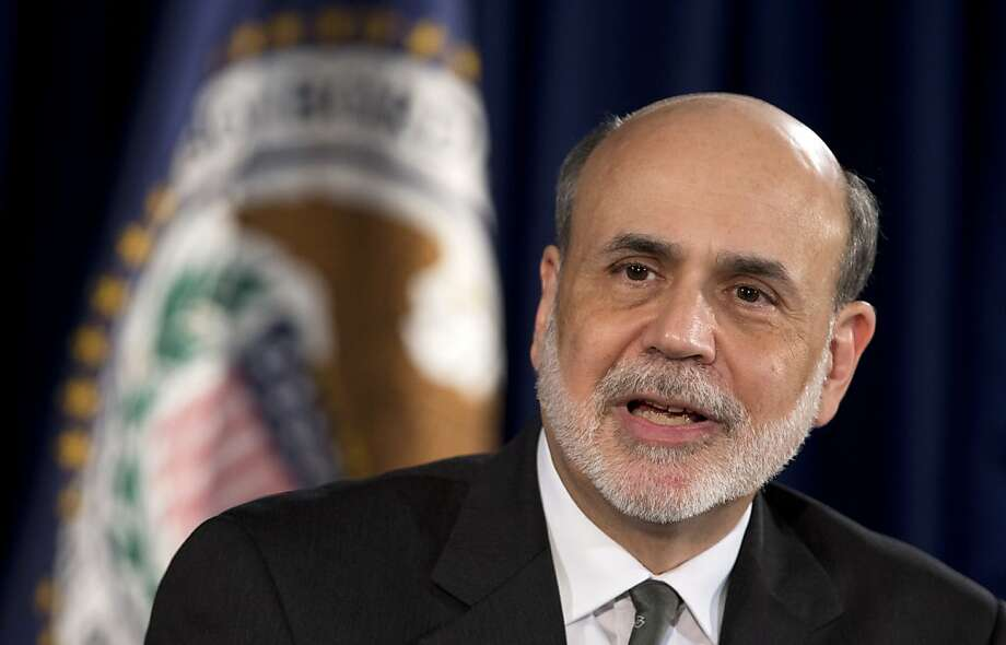 "Federal Reserve Bank Chairman Ben Bernanke says, ""The idea is to quicken the recovery."" Photo: Manuel Balce Ceneta, Associated Press"