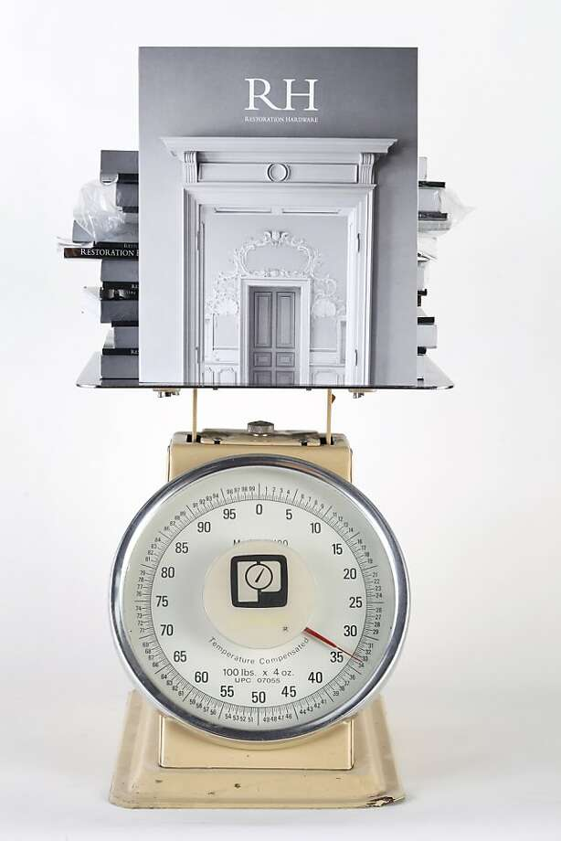 Restoration Hardware's new catalog package weighs 5 1/2 pounds. Photo: Craig Lee, Special To The Chronicle