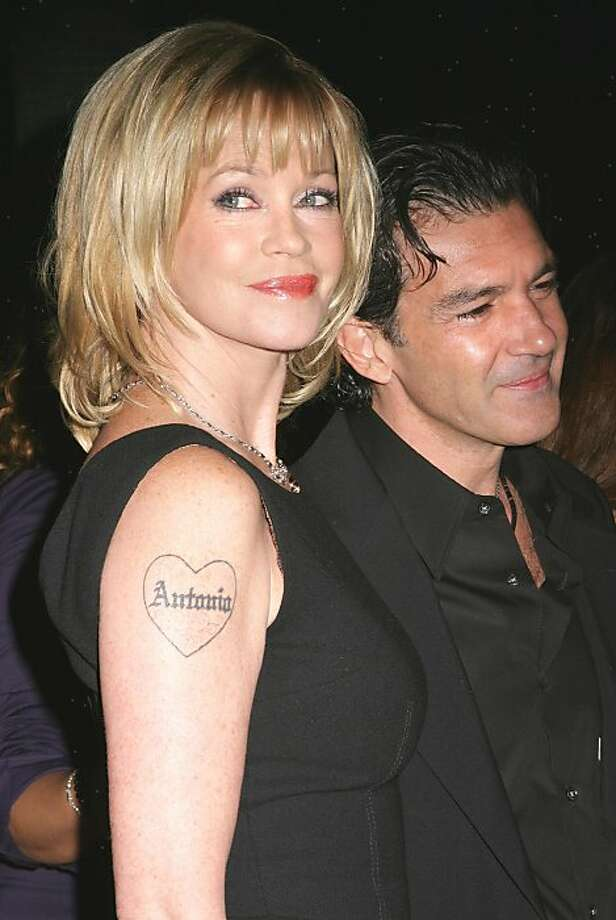 Melanie Griffith has a cheesy, biker-inspired tattoo in honor of husband Antonio Banderas.