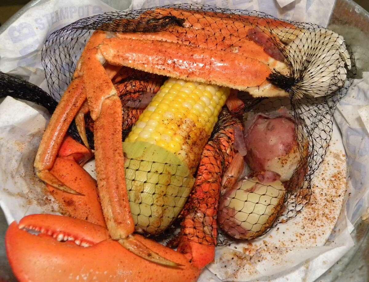 STEVE BARNES/TIMES UNION Lobster Daddy Feast at Joe's Crab Shack in Latham.