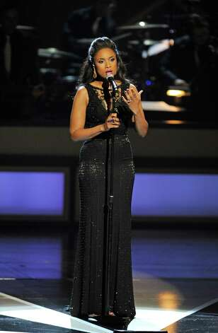 "Jennifer Hudson performs finale ""Take Care of This House"" at the opening of The Smith Center in Las Vegas. (PBS / Courtesy of Getty Images)"