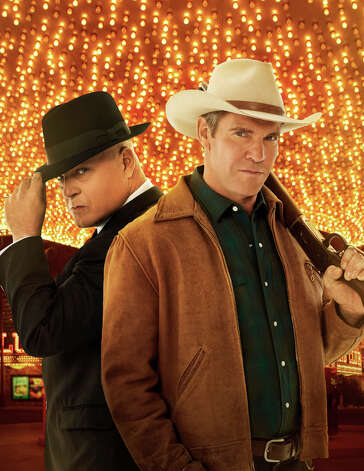 VEGAS is a drama inspired by the true story of former Las Vegas Sheriff Ralph Lamb, a fourth generation rancher tasked with bringing order to Las Vegas in the 1960s, a gambling and entertainment Mecca emerging from the tumbleweeds. Michael Chiklis (left) stars as Vincent Savino, a ruthless Chicago gangster who plans to make Vegas his own, and Dennis Quaid (right) stars as Ralph Lamb.  VEGAS premieres Tuesdays, Sept. 25 (10:00-11:00 PM ET/PT) on the CBS Television Network. Photo Kevin Lynch CBS A'A©2012 CBS Broadcasting, Inc. All Rights Reserved. Photo: Kevin Lynch / ©2012 CBS Broadcasting, Inc. All Rights Reserved.