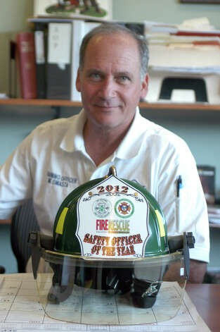 Mark Omasta, Safety and training Officer for the Danbury Fire department, was recently recognized as 2012 Safety Officer of the Year by a national firefighters organization. Photo: John Pirro