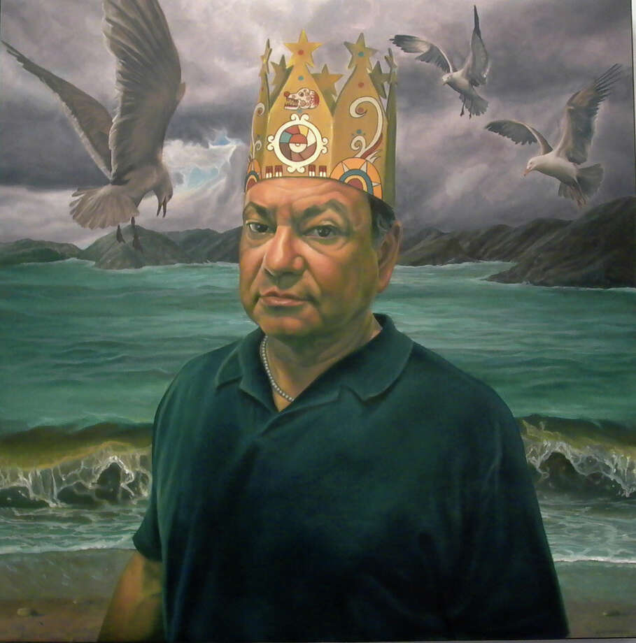 """It Is a Brown World After All,"" 2006, oil on canvas, by Eloy Torrez Photo: Courtesy Cheech Marin Collection"
