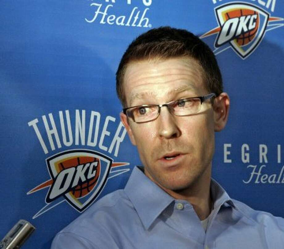 Sam Presti, Thunder: Basketball operations assistant, 2000-05; assistant GM/VP, basketball operations, 2005-07 (Sue Ogrocki / Associated Press)