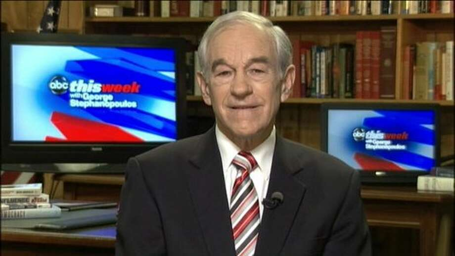 Ron Paul appears on ABC's This Week.