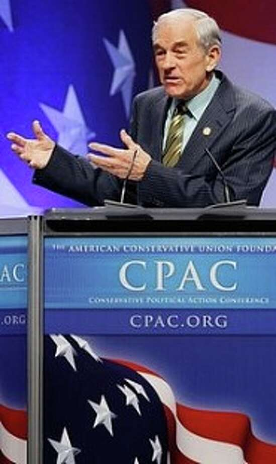 Ron Paul speaks to the Conservative Political Action Conference. Photo: AP