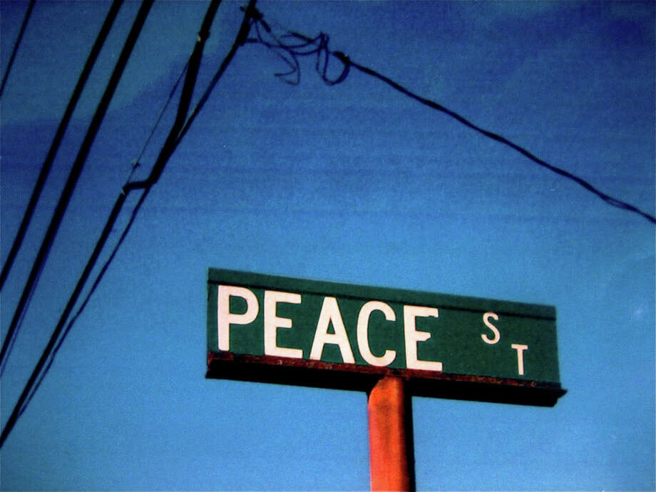 "City Lights Gallery will open ""Make Art, Not War"" Friday, Sept. 21, featuring Ernst Weber's ""Peace Street."" Photo: Contributed Photo"