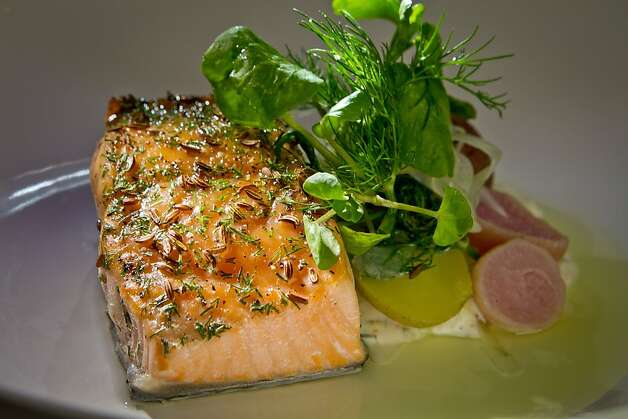 The Caraway Smoked Salmon at Plaj restaurant in San Francisco, Calif., is seen on Saturday, September 1st, 2012. Photo: John Storey