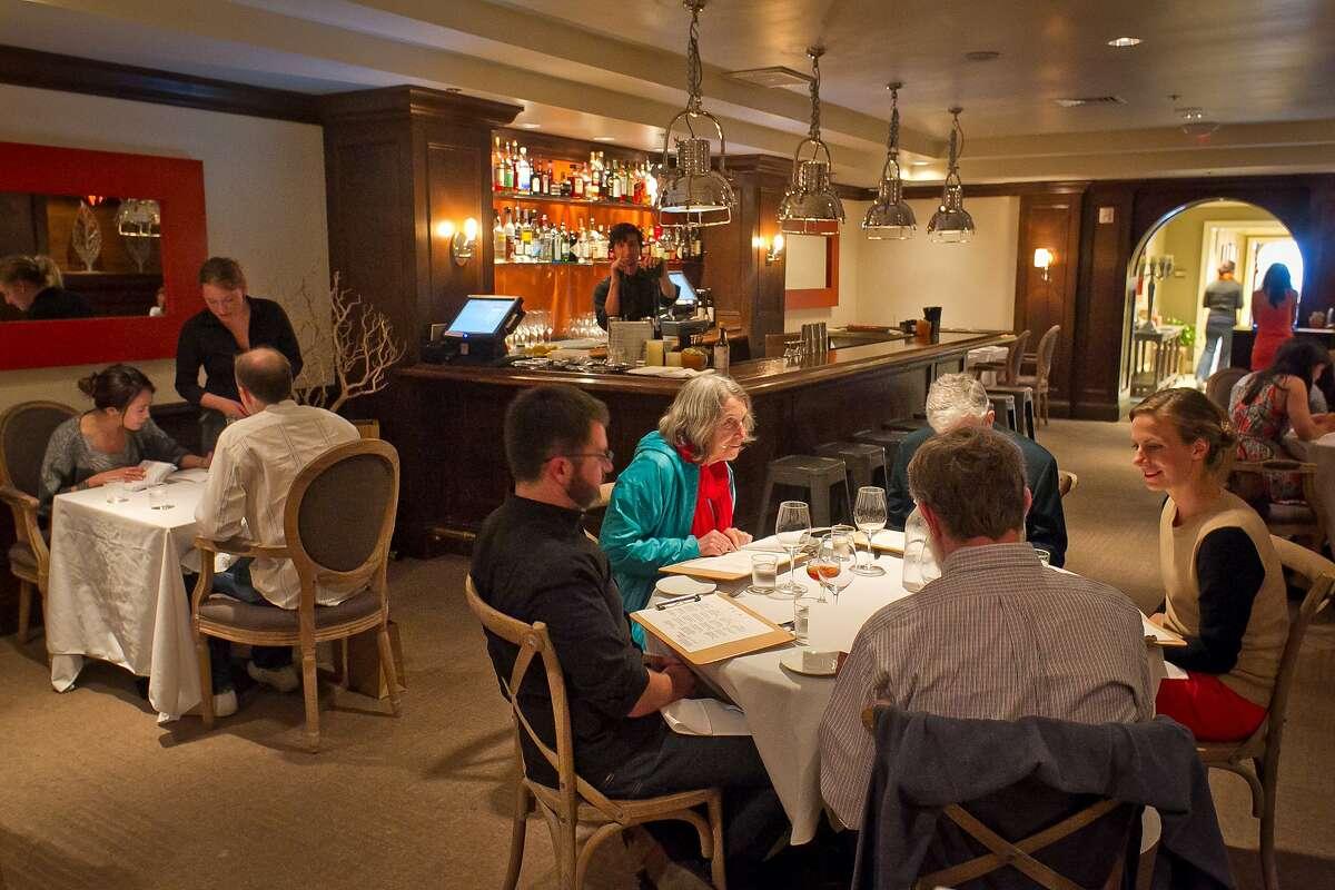 Diners enjoy dinner at Plaj restaurant in San Francisco, Calif., on Saturday, September 1st, 2012.