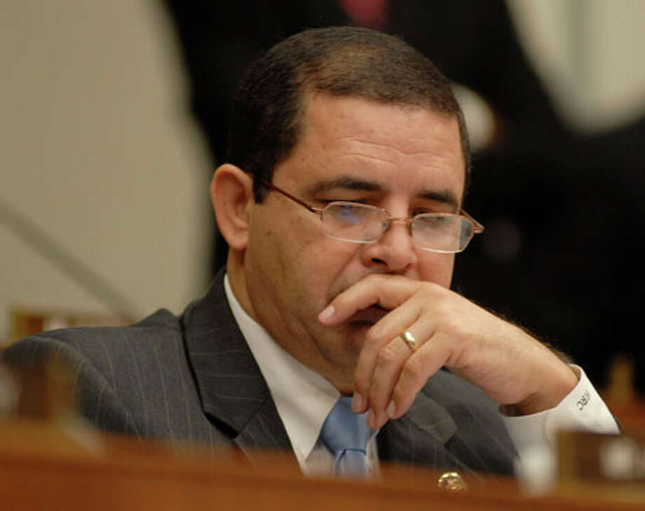 Rep. Henry Cuellar at a congressional hearing. (Meredith Blinder / Hearst Newspapers)
