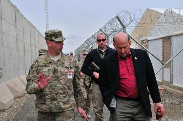 Rep. Louie Gohmert, R-Tyler, during a visit to Afghanistan in April, 2012. (Facebook of Louie Gohmert)
