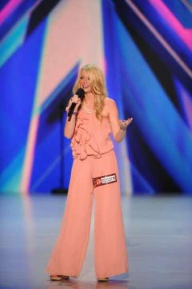 THE X FACTOR: Kaci Newton performs in front of the judges on part-one of the two night season premie