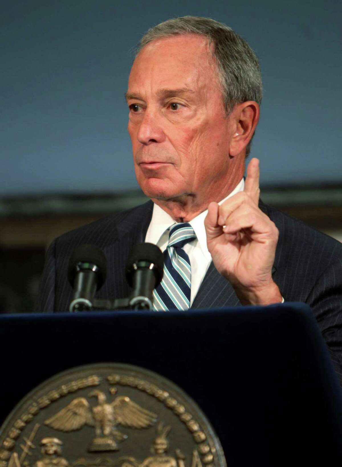 New York City Mayor Michael Bloomberg speaks at a news conference in New York, Thursday, Sept. 13, 2012. New York City cracked down on supersized sodas and other sugary drinks Thursday in what is celebrated as a groundbreaking attempt to curb obesity and condemned as a breathtaking intrusion into people's lives by a mayor bent on creating a ?