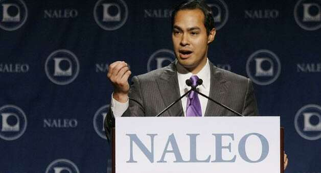 Julian Castro addresses the National Association of Latino Elected and Appointed Officials (NALEO). (AP)